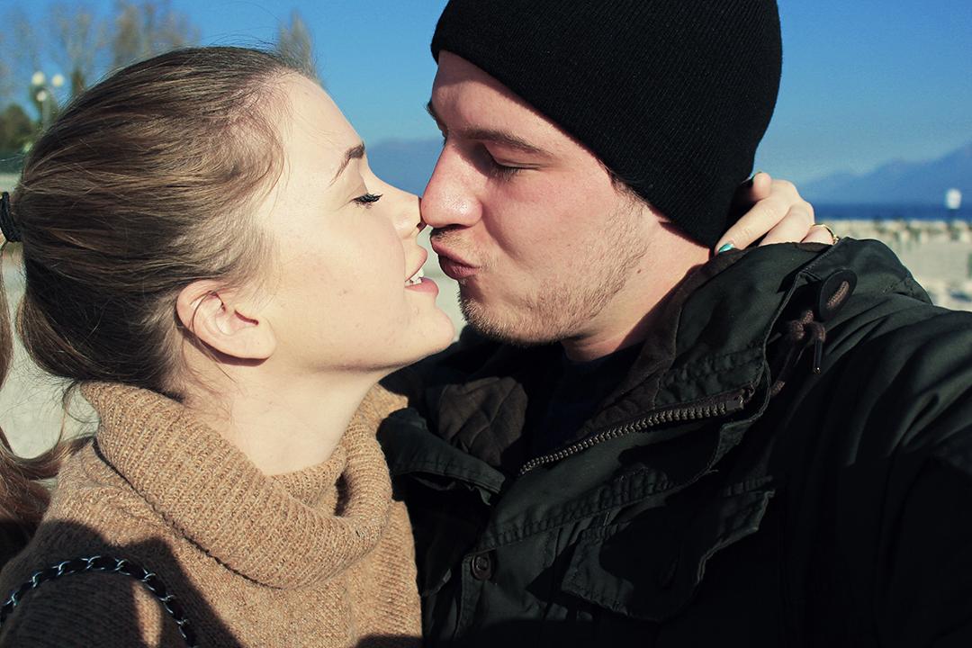 Am Gardasee Kussbild mit dem Herzensmann