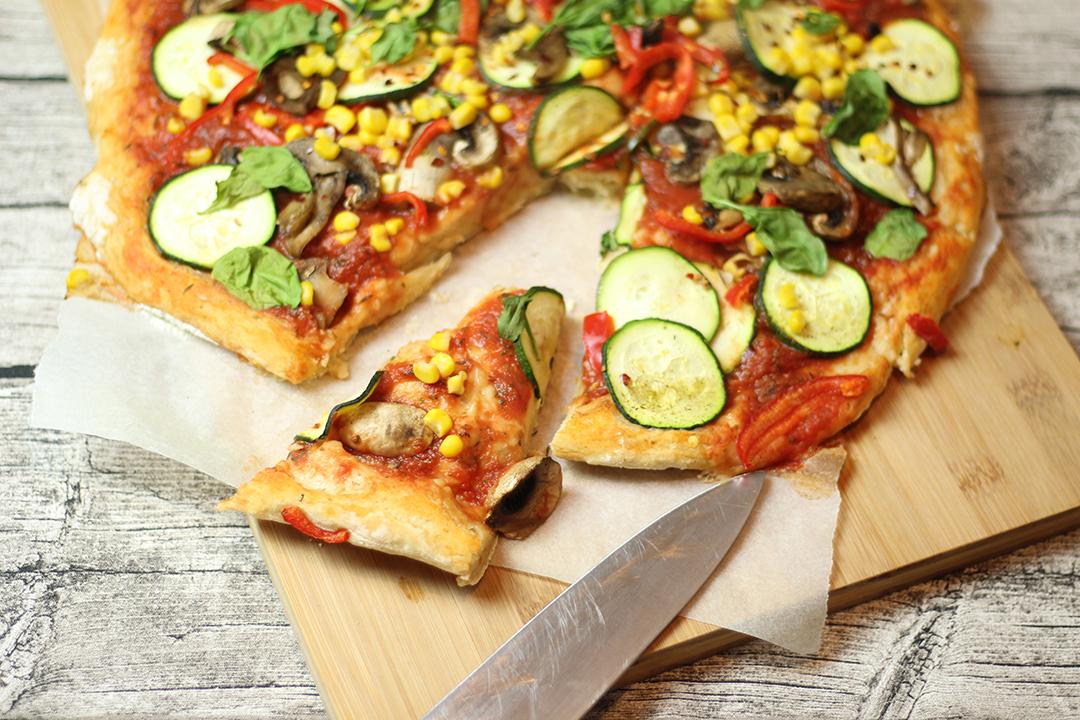 Vegan für einen Tag Pizza