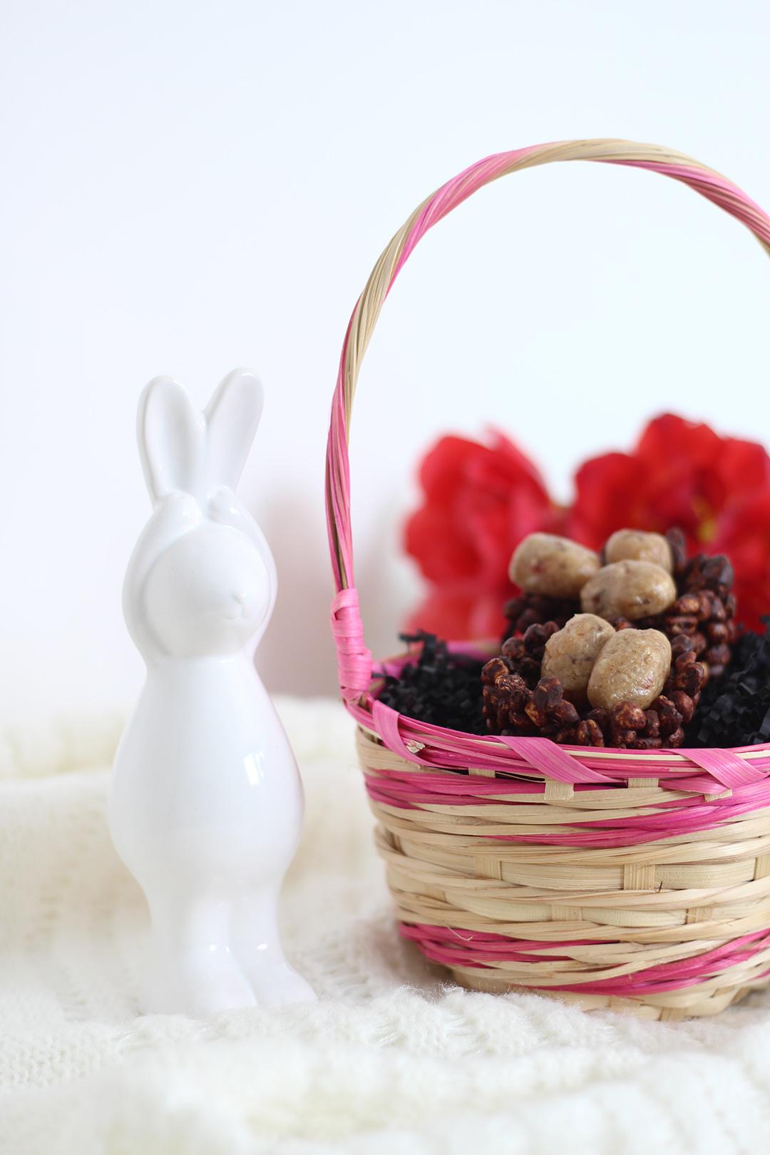 Selbstgemachte Osternester mit Cookie Dough Eiern