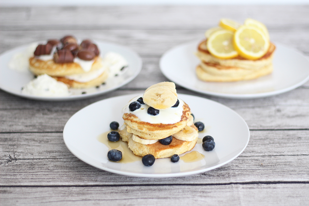 Pancakes drei verschiedene Arten