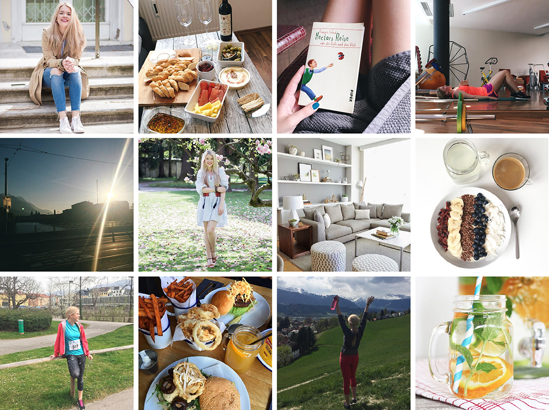Collage vom April; was ich gemacht habe