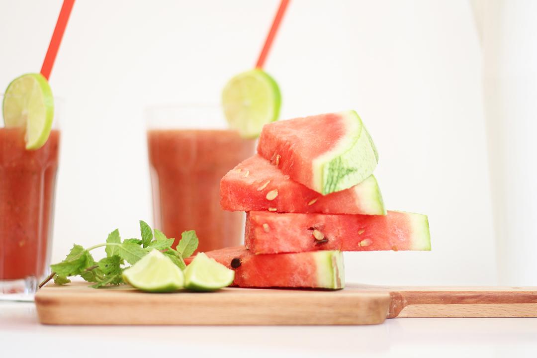 Wassermelonen Saft selbst gemacht