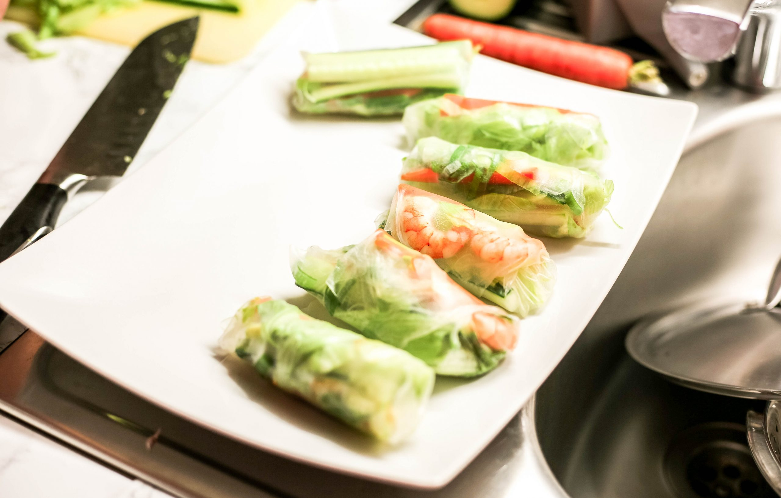 Sommer Rollen Sushi