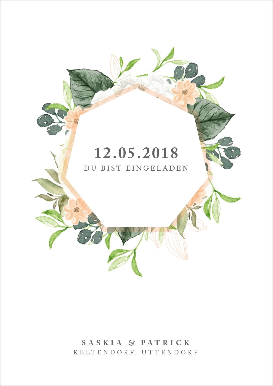 Invitation civil wedding